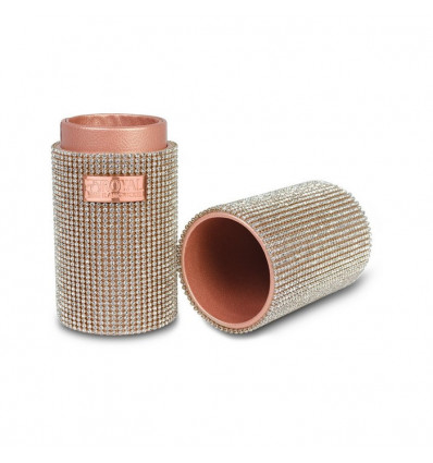 ROYAL & LANGNICKEL ROSE GOLD BRUSH CONTAINER